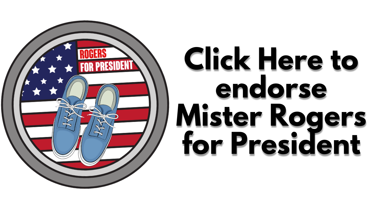 mister rogers for president 2020 campaign button thank you mister rogers